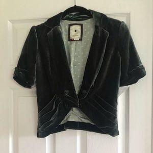 Anthropologie Velvet Jacket